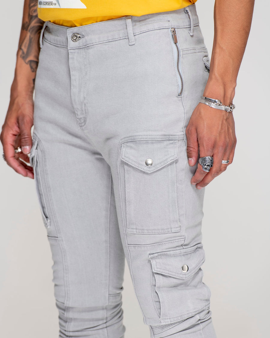 Kago Jeans Grey Ice - Men's Cargo Jeans