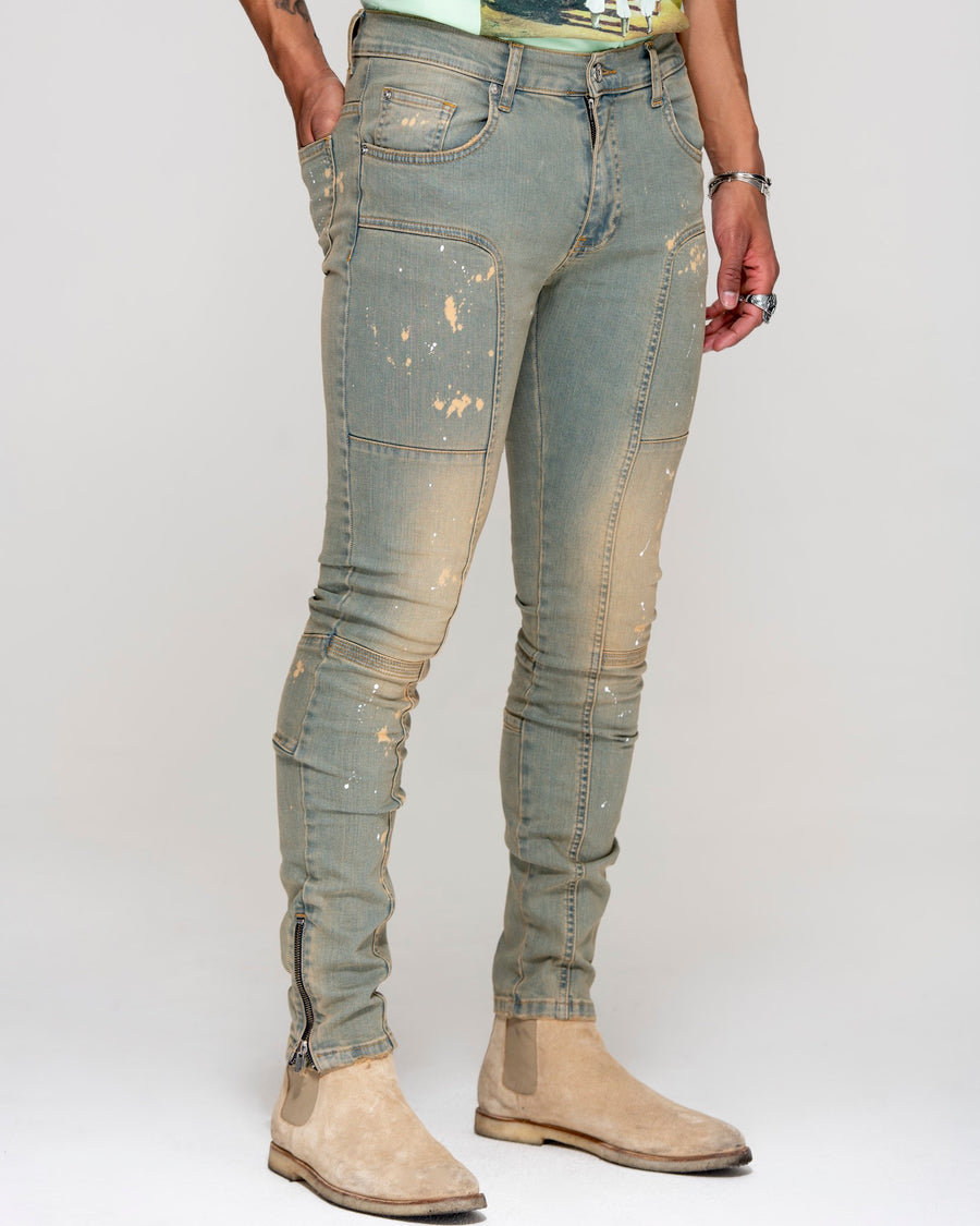 Essential Jeans Yellow Tint - Men's Slim Fit Jeans