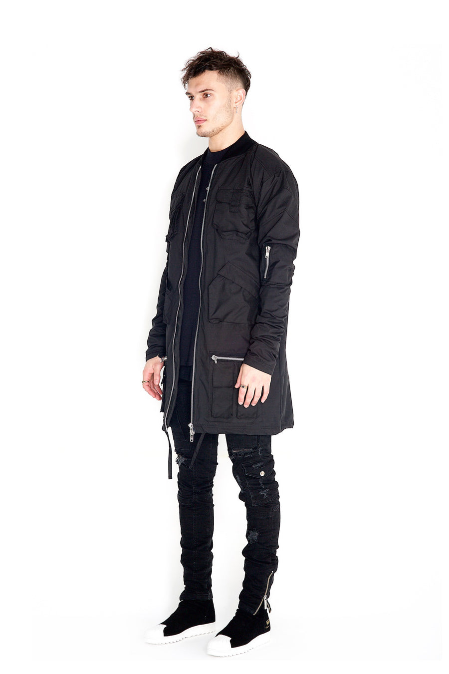 Valka Long Jacket Black