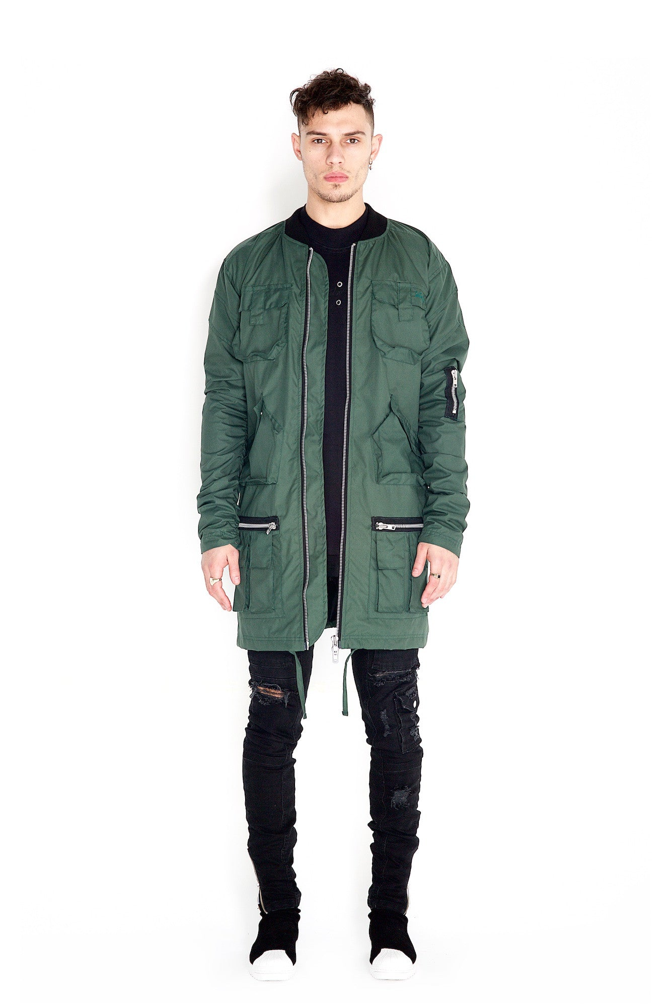Valka Long Jacket Forest Green