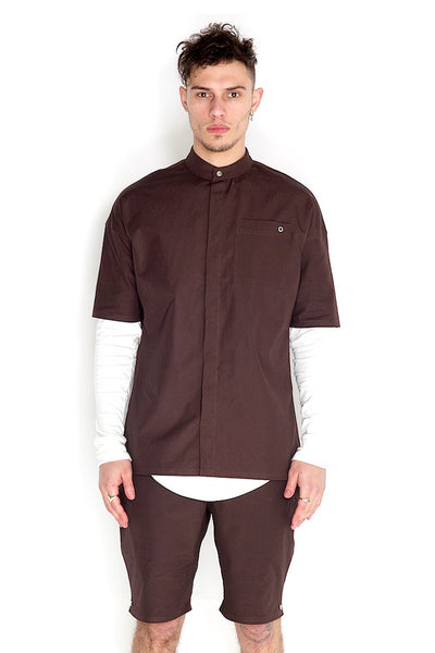 Odin Two Piece Shirt Brown Stone