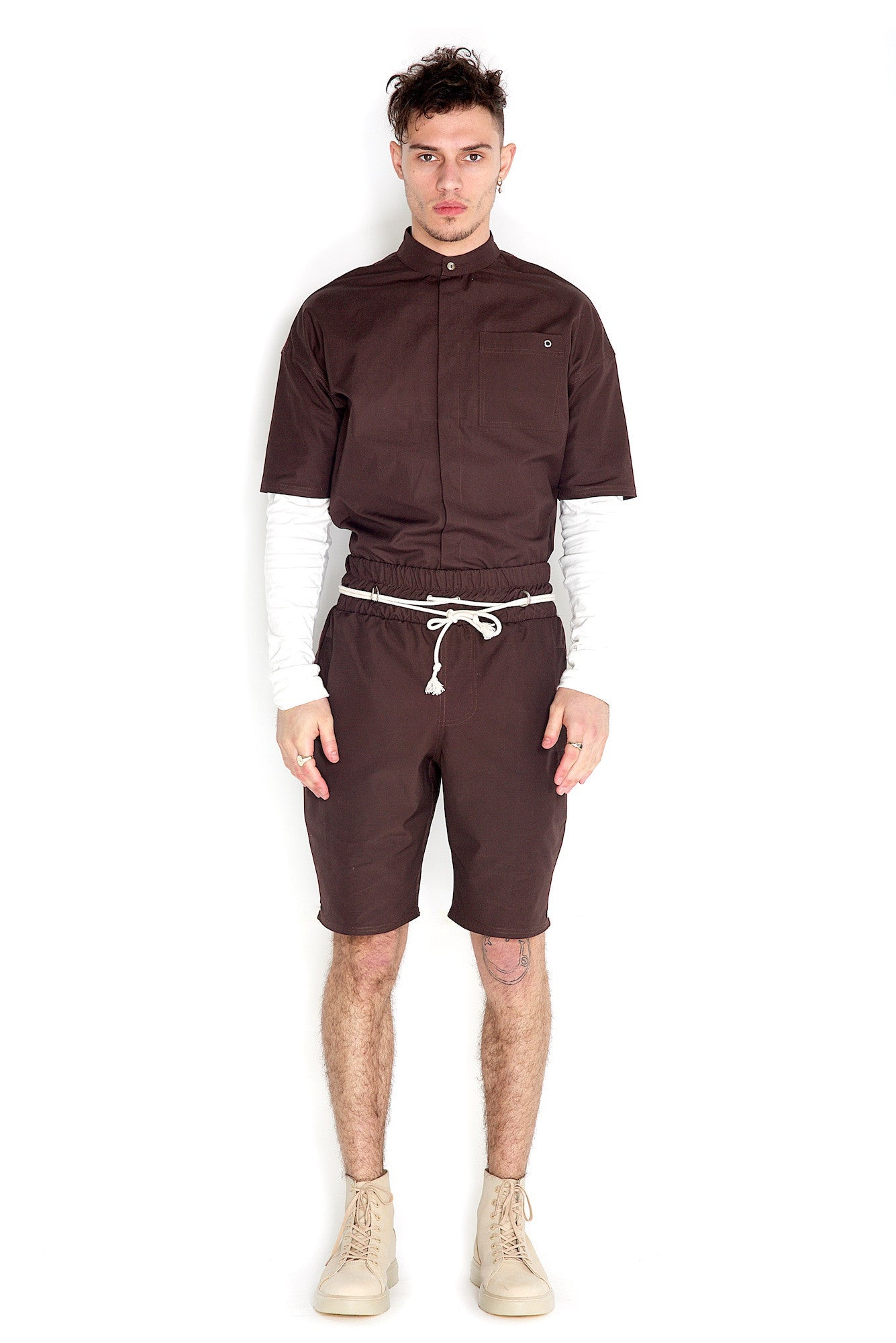 Odin Two Piece Shorts Brown Stone