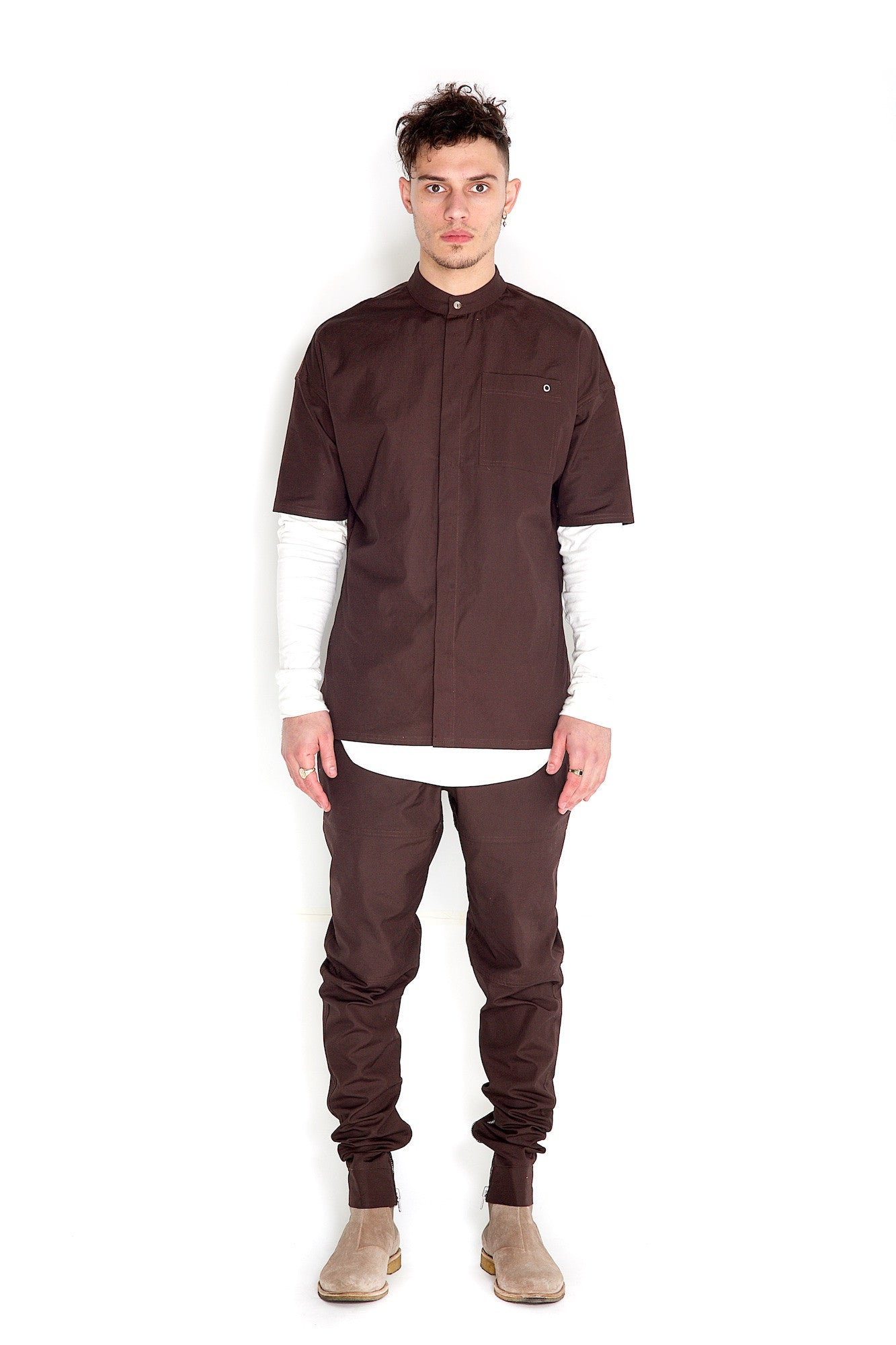 Odin Two Piece Pants Brown Stone