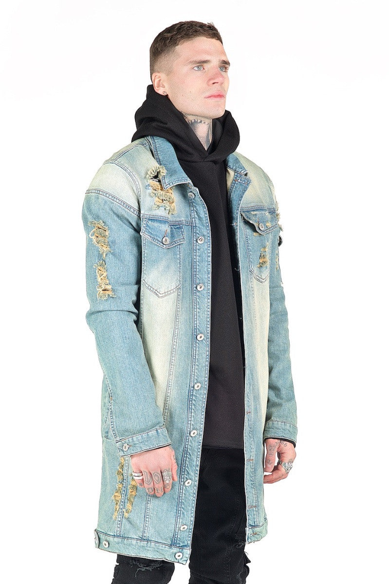 Kago Blue Long Denim Jacket