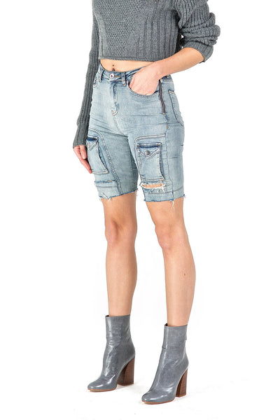 Heka Blue Denim Shorts