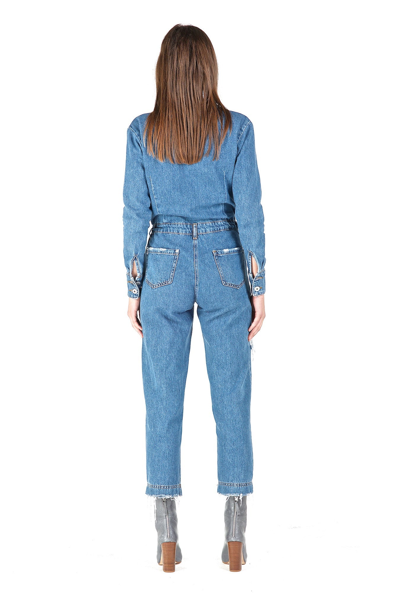Fury Blue Long-Sleeve Jumpsuit