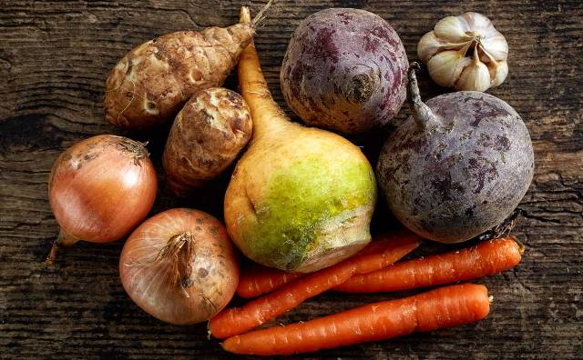 4 root veggies that are great for salads.
