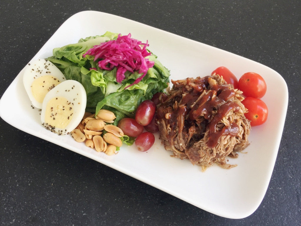 Meat Lover BBQ Pulled Pork Salad
