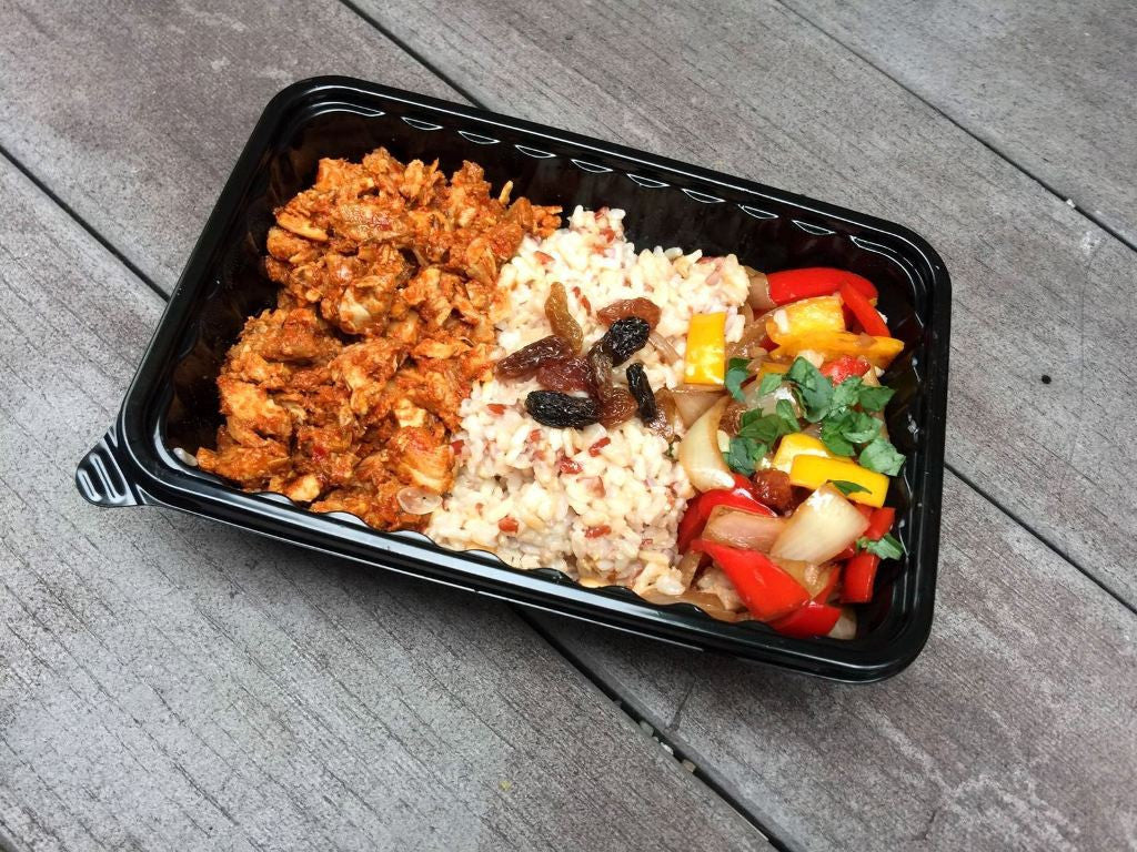 Spinacas Healthy Bento Delivery Spicy Chicken Bento