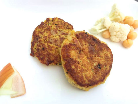 Extra Vegetarian Spiced Chickpea Patties