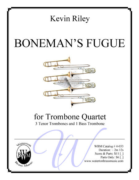 Boneman's Fugue (Low Brass Ensemble) , Low Brass Ensemble - Waterton Brass Music, Waterton Brass Music  - 1
