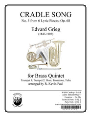Cradle Song (Brass Quintet)