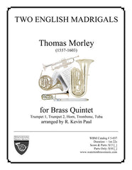 Two English Madrigals (Brass Quintet)