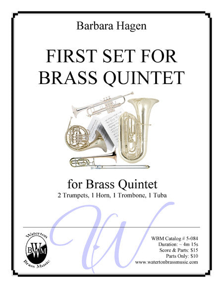 First Set For Brass Quintet , Brass Quintet - Waterton Brass Music, Waterton Brass Music  - 1