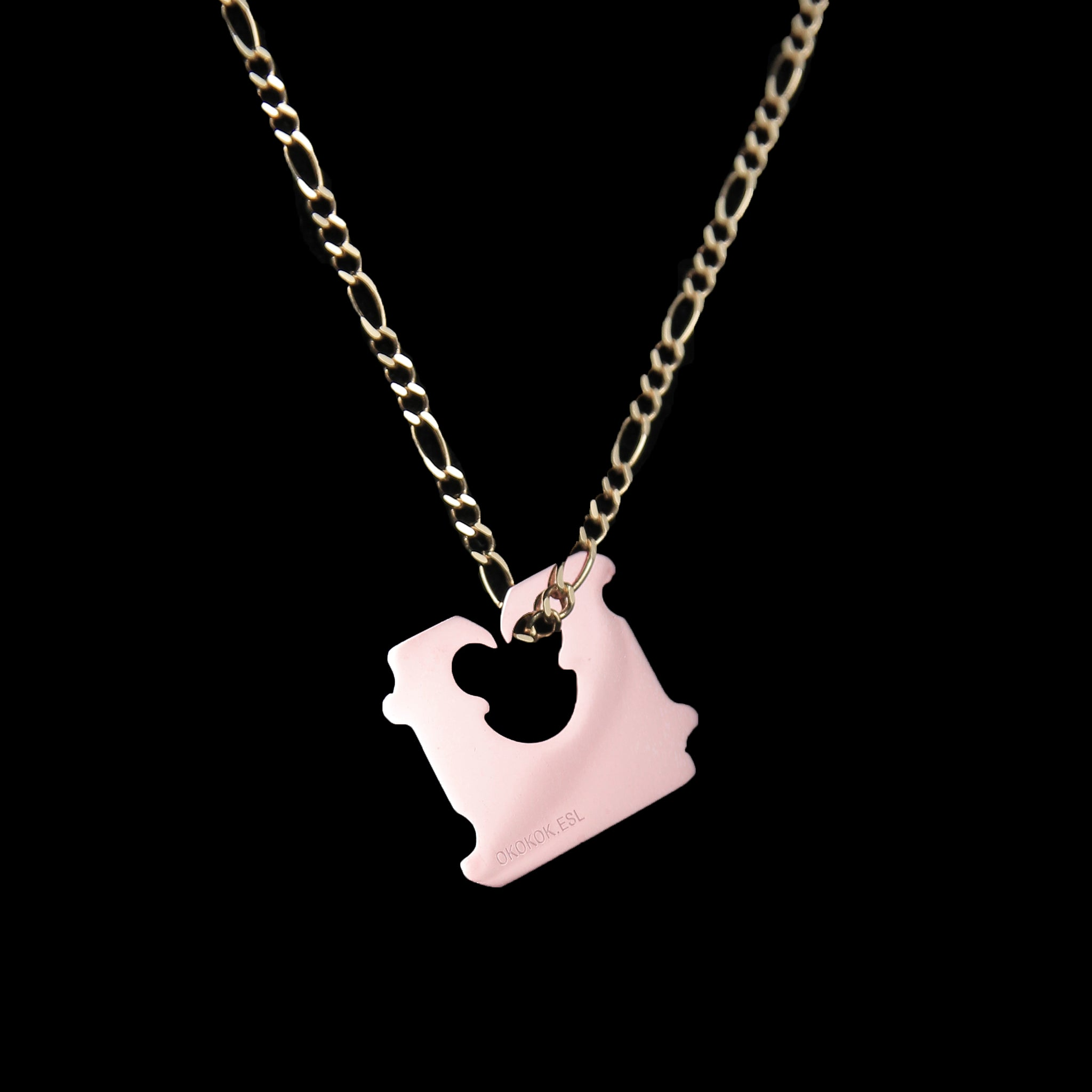 Rose Gold Bread Clip + Gold Chain