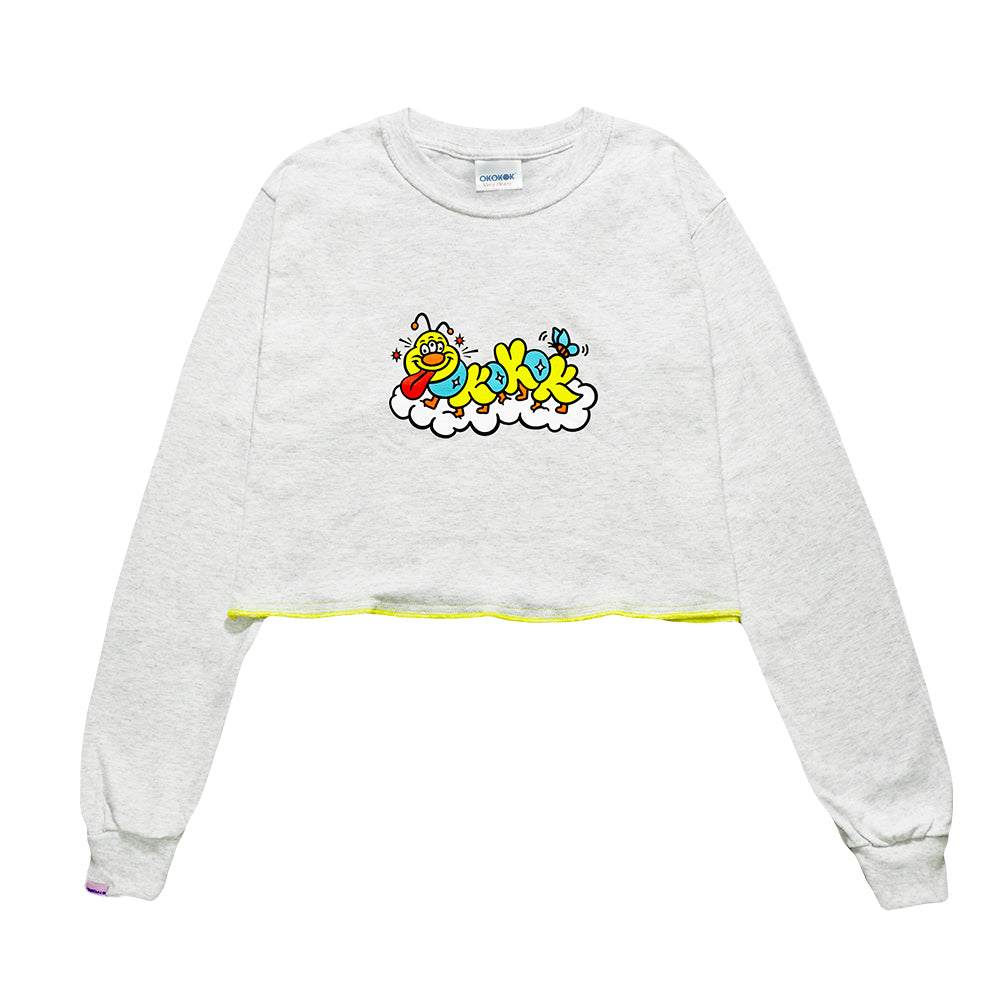 Caterpillar Cropped LS Tee