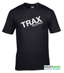 TRAX Records T Shirt - Chicago House Old School vinyl Tshirt Adonis Mr Fingers