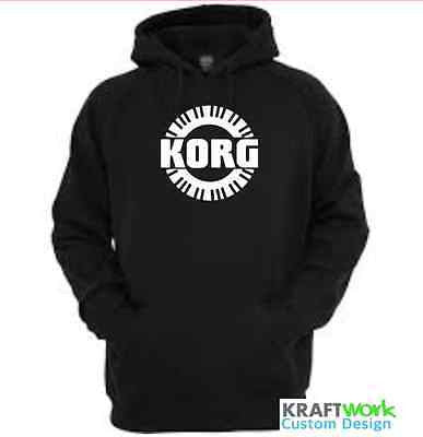 KORG Synthesizer Hoodie - Custom Print KORG Synth Hoodie with Piano Roll Classic