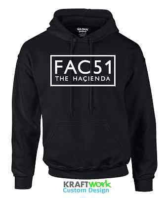 FAC 51 The Hacienda Hoodie MANCHESTER Acid House Factory Records Happy Mondays
