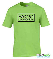 FAC 51 The Hacienda T-SHIRT Factory Records MANCHESTER Acid House Joy Division