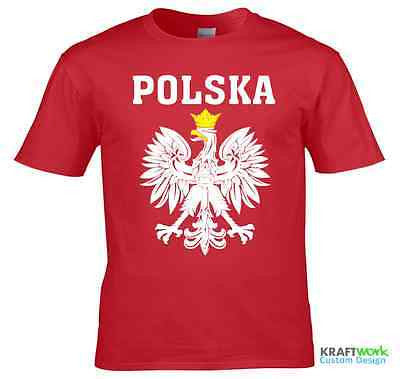 POLSKA POLAND T-SHIRT - POLAND T Shirt - Football Fans Supporters T-Shirt