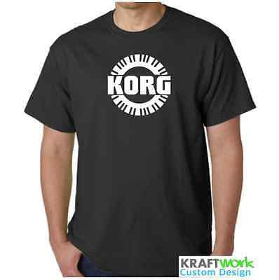 KORG T-Shirt Custom Print - Korg Synthesizer  Piano Roll Design Classic Synth