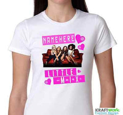Personalised LITTLE MIX White T Shirt T-Shirt Girls Boys ANY NAME Weird Tour