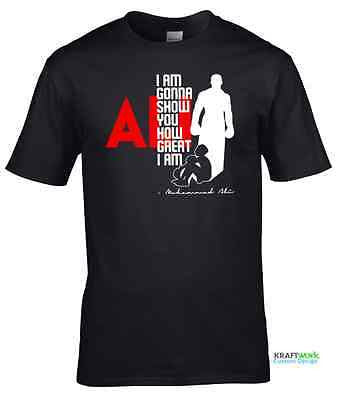 MUHAMMAD ALI - LIMITED EDITION T-Shirt The Greatest MENS T SHIRT Fathers Day