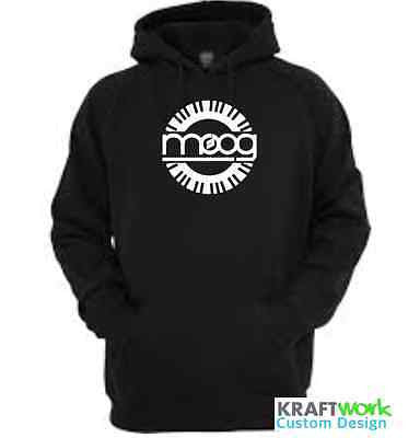 Moog Synthesizer Hoodie - Custom Print Moog Synth Hoodie with Piano Roll Classic