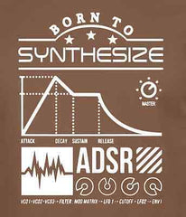Born to Synthesize Synthesizer Music Production T-shirt Mens & Womens T Shirt