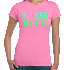 I Love My Life T shirt Robbie Williams Inspired Unique Glow in Dark Design TOP