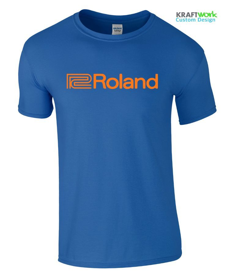 Roland T-Shirt 100% Cotton - Synthesizer Juno, Jupiter, JX JD SH 808 909 303 Top