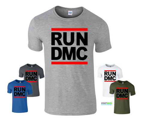RUN DMC T-Shirt Rap 1980s  Retro HIP HOP Top Festival Club T SHIRT Free Shipping