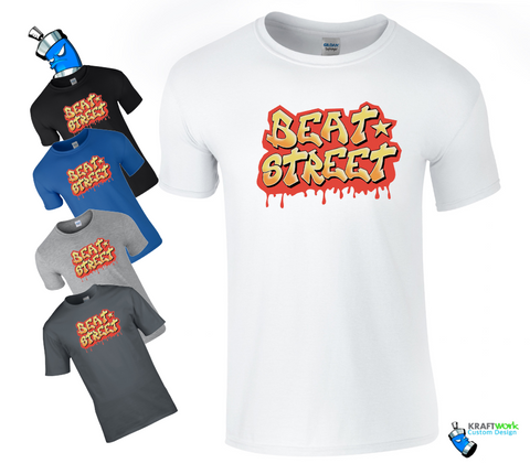 BEAT STREET Retro Graffiti T-Shirt  Breakdance Wild Style Rock Steady Crew Top