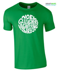 "NOEL GALLAGHER'S High Flying Birds ""CIRCLE LOGO"" T SHIRT NEW Festival Top Lytham"