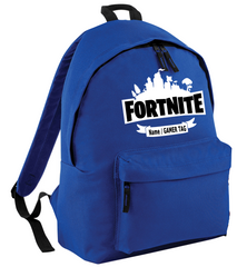FORTNITE Backpack with Optional Name/GameTAG Personalised Rucksack Back 2 School