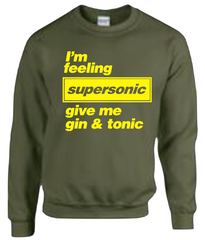 Supersonic Gin & Tonic - Oasis JUMPER - SWEATSHIRT Top Liam Noel Gallagher Gift