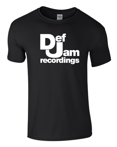 DEF JAM RECORDINGS T-Shirt Rap 1980s Beastie Boys DMX Hip Hop Club Festival Top