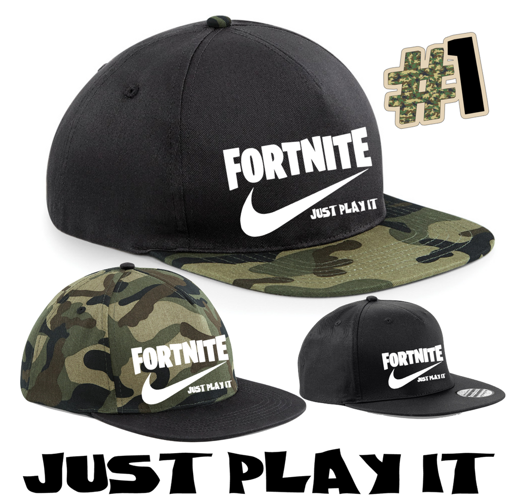 dac9328b7a7 FORTNITE JUST PLAY IT SNAPBACK CAP HAT CHILDRENS AND ADULTS GAMING CAP  Youtuber
