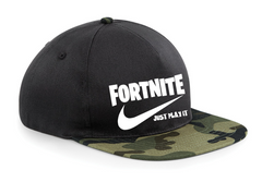 FORTNITE JUST PLAY IT SNAPBACK CAP HAT CHILDRENS AND ADULTS  GAMING CAP Youtuber