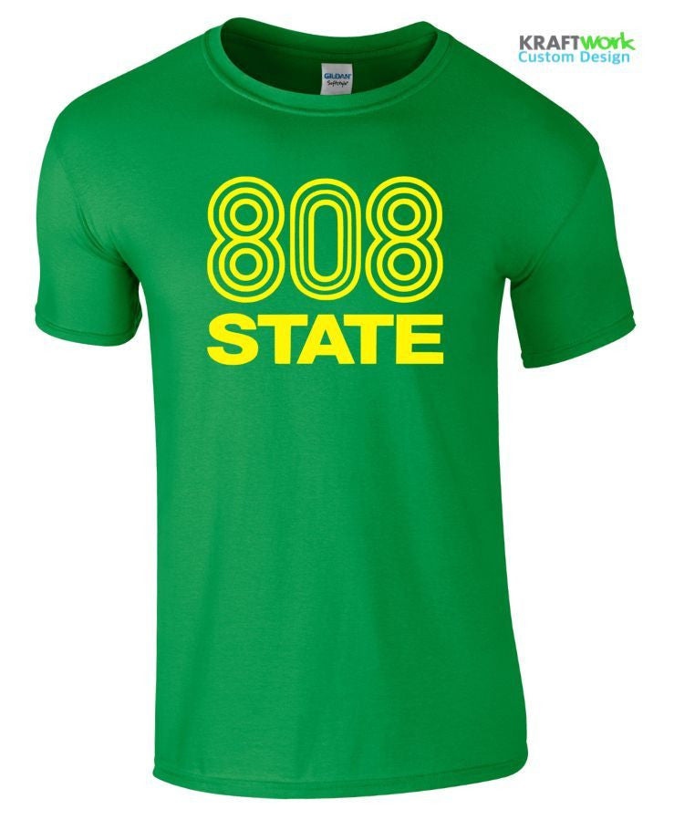 808 State T-Shirt FAC 51 The Hacienda Manchester Mens Music Top Festival 90's