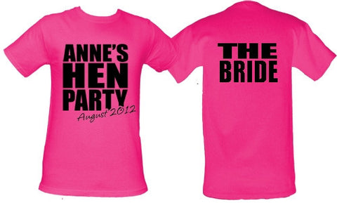 80's Style -  Hen Do T-Shirt S - XXL