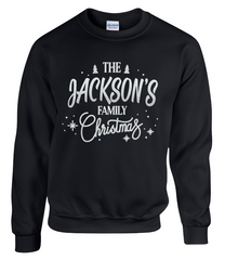 All the Family NAME Christmas Jumper Sweatshirt Age 6 months - 3XL