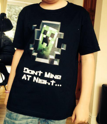 Dont Mine at Night - Minecraft inspired design Kids T-Shirt