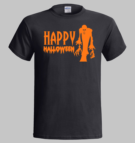 Halloween T-Shirt  - Happy Halloween Zombie Ghost Design