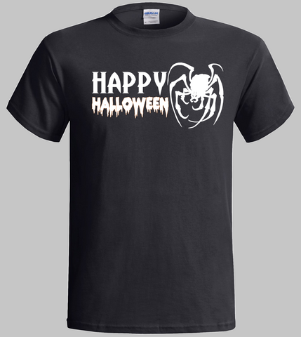 Halloween T-Shirt Happy Halloween Scary Spider Design
