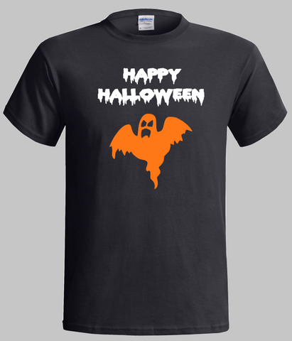 Halloween T-Shirt Happy Halloween Scary Ghost Design
