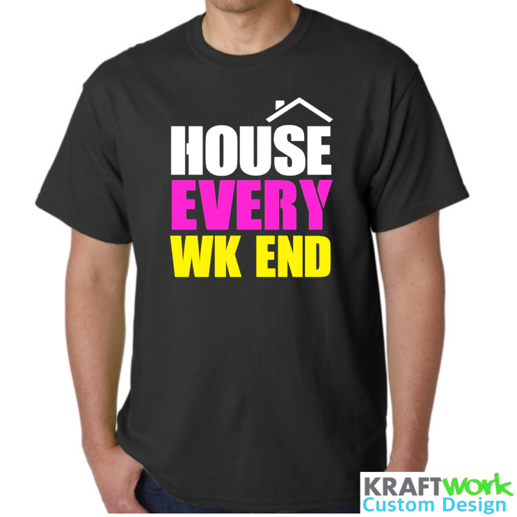 House Every Weekend - Festival Clubbing EDM T-Shirt David Zowie Deep House