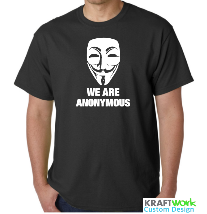 ANONYMOUS T-Shirt We Are Anonymous - Wake Up Statement T-Shirt Most Colours All Sizes