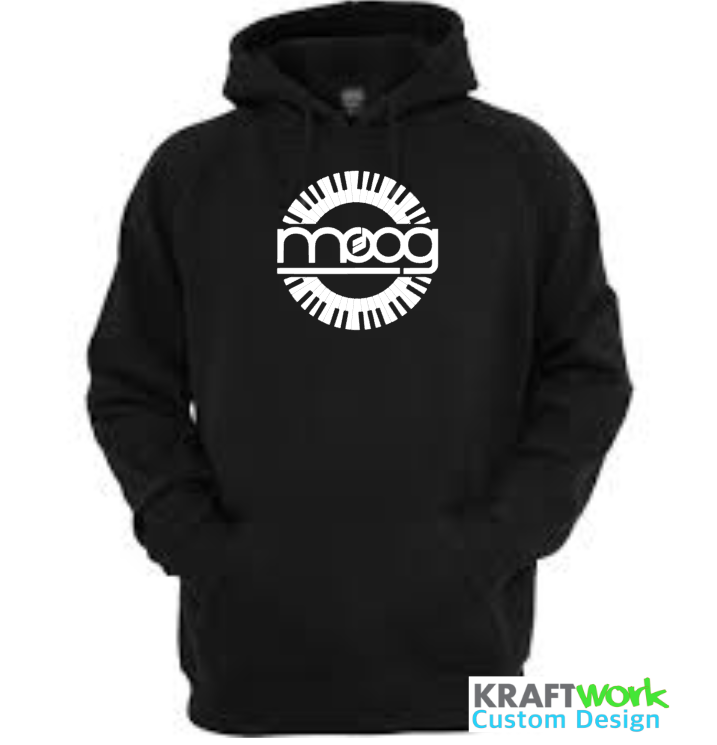 Moog Synthesizer Hoodie - Custom Print Moog Synth Hoodie with Piano Roll Classic Moog Synth Design